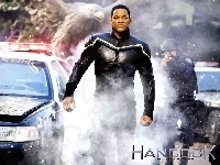 dym, Hancock, Will Smith, radiowóz