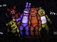 Bonny, Foxy, Chica, Animatronik, Golden Freedy, Freedy