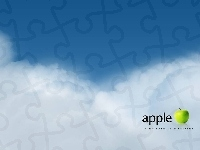 Apple, Logo, Chmury