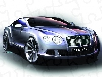 Projekt, Bentley Continental GT, Graficzny