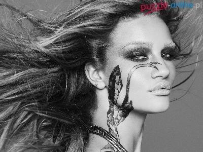 Puzzle Włosy Kobieta Rozwiane Tatuaż