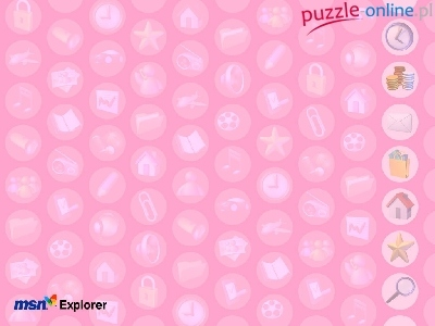 Puzzle zegar, domek, Programy MSN, logo, monety
