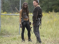 The Walking Dead, Andrew Lincoln, Danai Gurira, Rick Grimes, Serial, Żywe trupy, Michonne