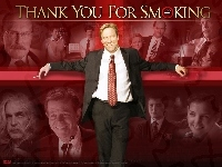 Aaron Eckhart, garnitur, Sam Elliott, Maria Bello, Cameron Bright, Thank You For Smoking, Katie Holmes, William H. Macy