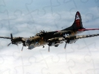 Flying, B-17, Bombowiec, Fortress