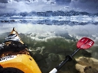 Lake, Paddling, USA, Kajak, Mono, Kalifornia
