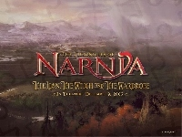 krajobraz, las, The Chronicles Of Narnia, napis, góry