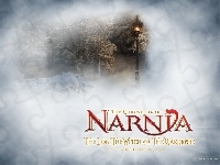 las, napis, The Chronicles Of Narnia, zima, latarnia