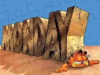 Monday, Napis, Garfield