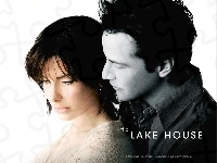 Sandra Bullock, przytuleni, The Lake House, Keanu Reeves, plakat