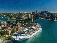 Port, Most, Miasta, Statek, Sydney, Panorama