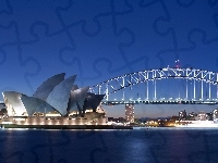 Zatoka Port Jackson, Sydney Opera House, Australia, Sydney, Most Sydney Harbour Bridge