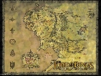 napis, The Lord of The Rings, znaki, mapa